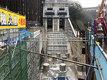 ダム水門工事
