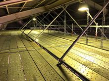 資材倉庫天井足場設置工事