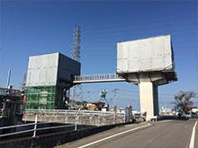 河川水門改修工事
